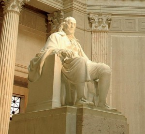 Meet Ben Franklin: Visit the 20-foot high marble statue of the legend.